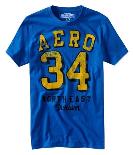 Aeropostale Mens Aero # Graphic T-Shirt activeblue XS
