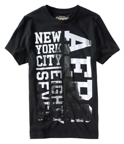 Aeropostale Mens New York Graphic T-Shirt black XS