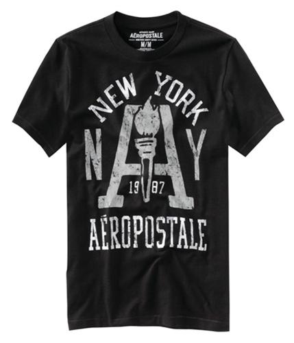 Aeropostale Mens Nyc East Div. Graphic T-Shirt black XS