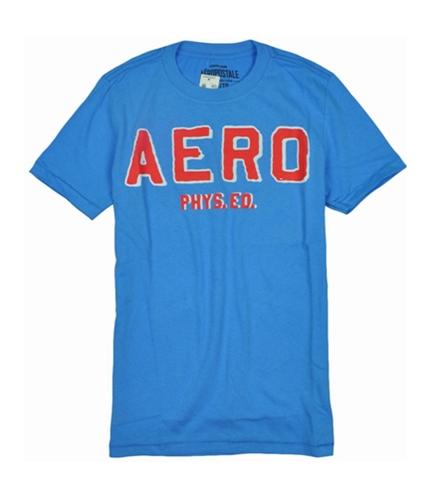 Aeropostale Mens Aero Phys. Ed Graphic T-Shirt bluejay XS