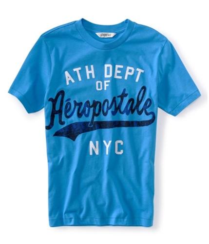 Aeropostale Mens Athletic Dept Nyc Graphic T-Shirt ltblue XS
