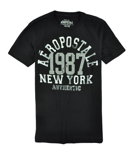 Aeropostale Mens Puff Paint Graphic T-Shirt black XS