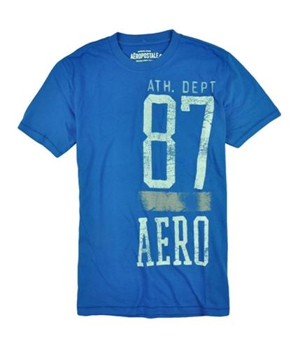 Aeropostale Mens Athletic Dept Weathered Graphic T-Shirt activeblue M