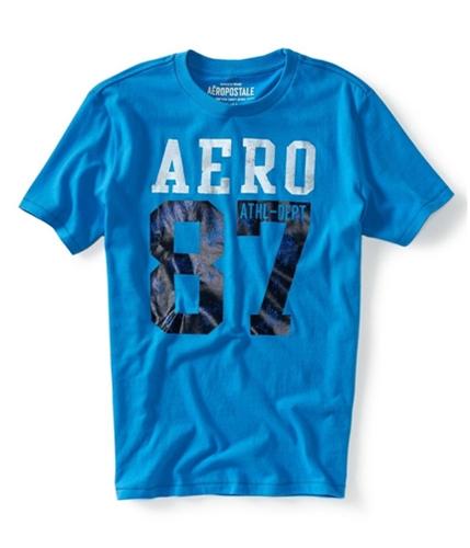 Aeropostale Mens Ny Ath Dept Graphic T-Shirt lightblue XS