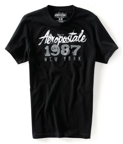 Aeropostale Mens 1987 New York Graphic T-Shirt black XS
