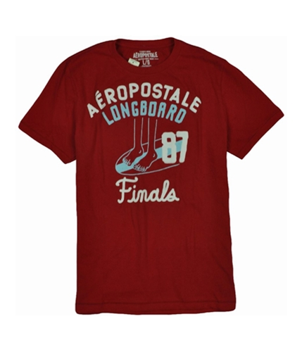 Aeropostale Mens Longboard Graphic T-Shirt redclay XS