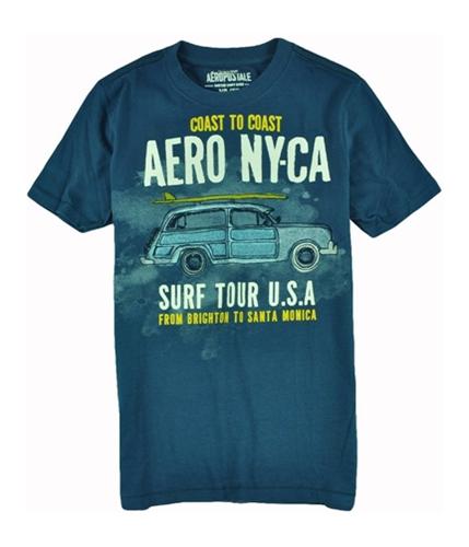 Aeropostale Mens Surf Style Graphic T-Shirt lunablue XS