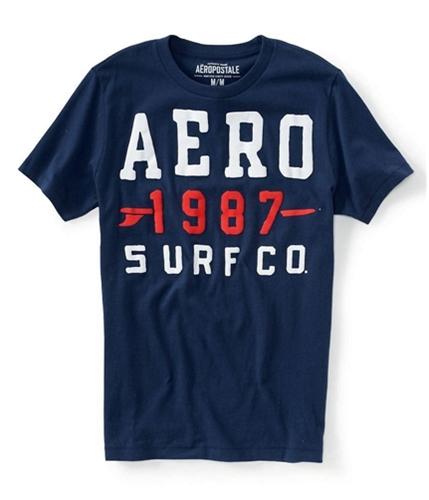 Aeropostale Mens 1987 Surf Co. Graphic T-Shirt navyni XS