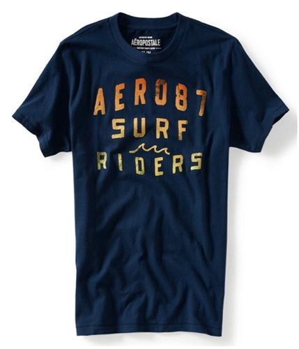 Aeropostale Mens Palm Tree Surfer Graphic T-Shirt navyni XS