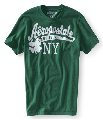 Aeropostale Mens Ny St. Patrick's Graphic T-Shirt greeng XS