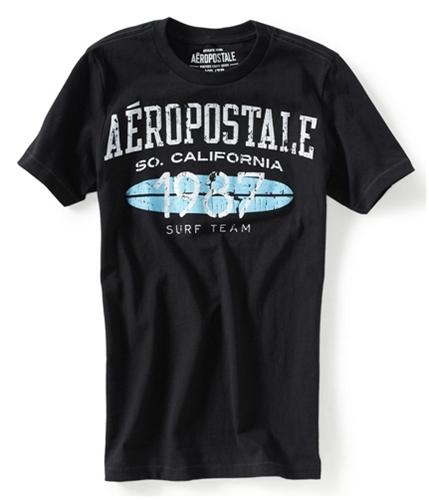 Aeropostale Mens Surf Team 1987 Graphic T-Shirt black XS