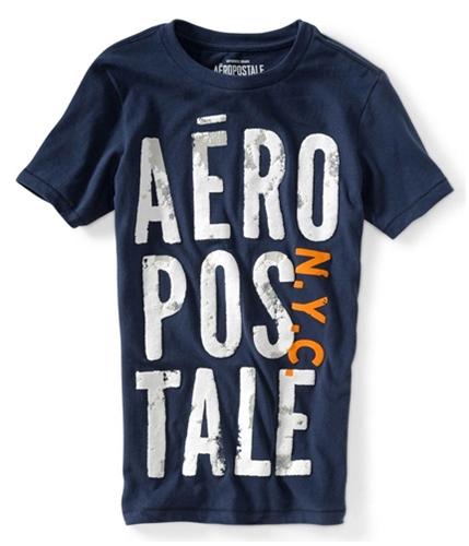 Aeropostale Mens N.y.c. Puff Paint Graphic T-Shirt 413 XS