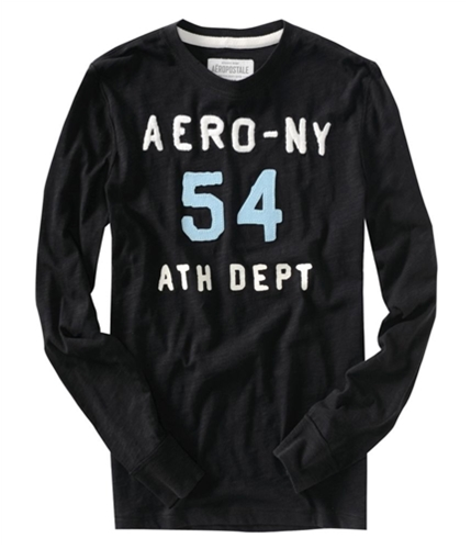 Aeropostale Mens #54 Athletic Dept Graphic T-Shirt black XS