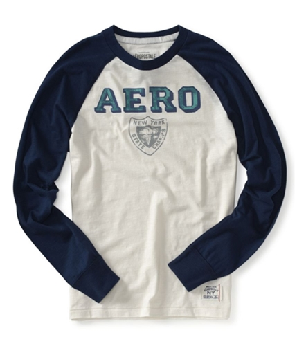 Aeropostale Mens New State Champs Graphic T-Shirt navynightblue XS