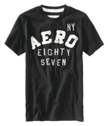 Aeropostale Mens Ny Aero Graphic T-Shirt black XS