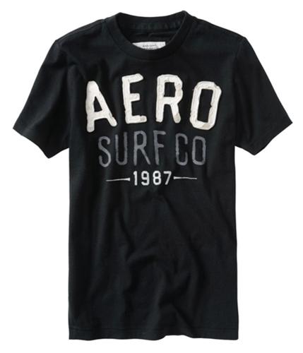 Aeropostale Mens Aero Surf Co Graphic T-Shirt black XS