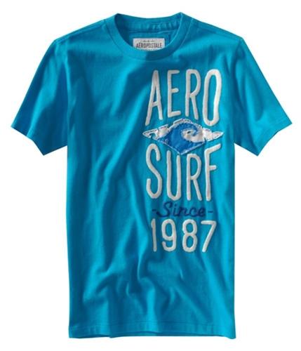 Aeropostale Mens Aero Surf Graphic T-Shirt curacaoaqua XS