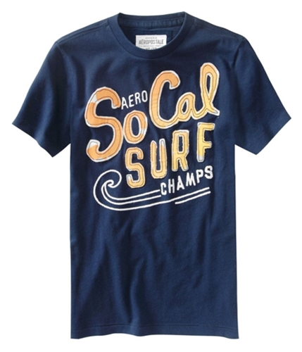 Aeropostale Mens So Cal Surf Champs Graphic T-Shirt navyblue XS