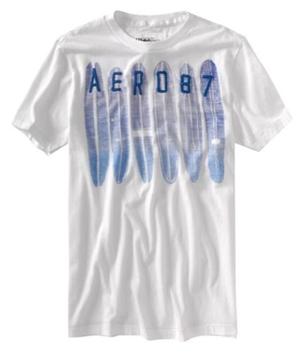 Aeropostale Mens Aero 087 Surf Graphic T-Shirt bleachwhite XS