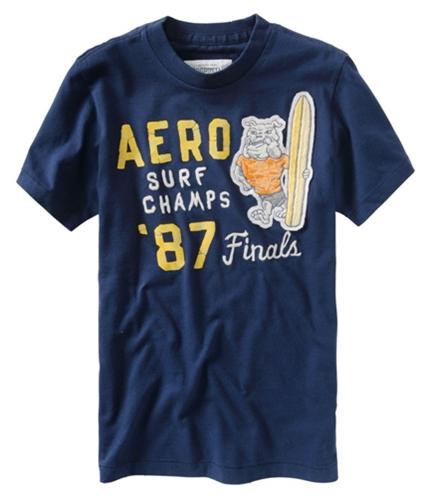 Aeropostale Mens Surf Champs Graphic T-Shirt navyni S