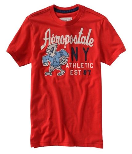 Aeropostale Mens Ny Athletic Graphic T-Shirt sunred M