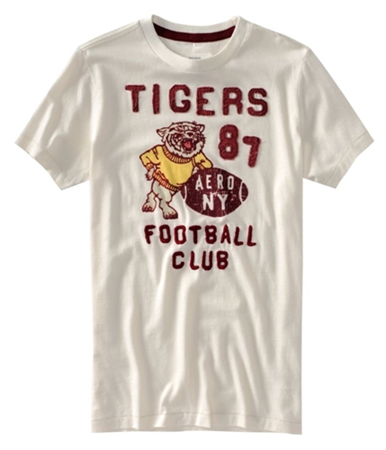 Aeropostale Mens Tigars 87 Football Club Graphic T-Shirt opalwhite L