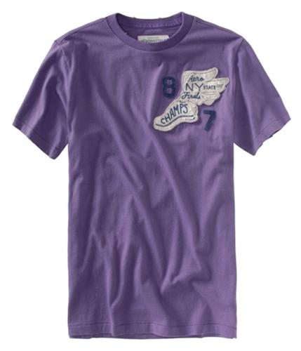 Aeropostale Mens Aero Ny State Finals Track Graphic T-Shirt lilacmythpurple XS