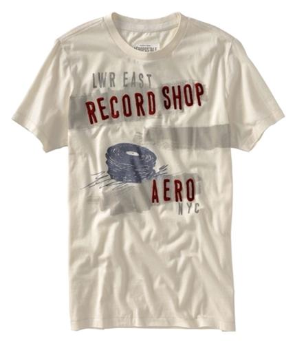 Aeropostale Mens Record Shop Graphic T-Shirt opaloffwhite XS