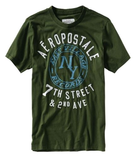 Aeropostale Mens East Village Records Graphic T-Shirt cypressgreen XS
