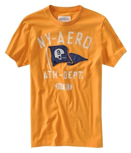 Aeropostale Mens Flag Football Graphic T-Shirt squashorange XS