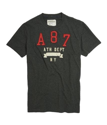 Aeropostale Mens A 8 7 Graphic T-Shirt charcoa L