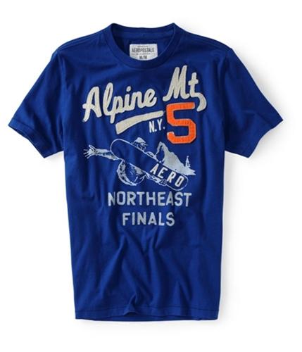 Aeropostale Mens Alpine Mt Graphic T-Shirt ultramablue XS