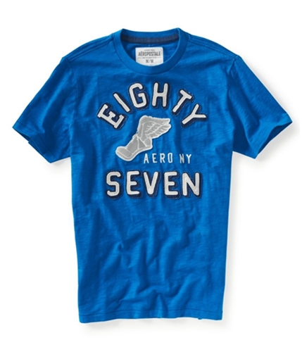 Aeropostale Mens Eighty Seven Athletic Graphic T-Shirt active XS