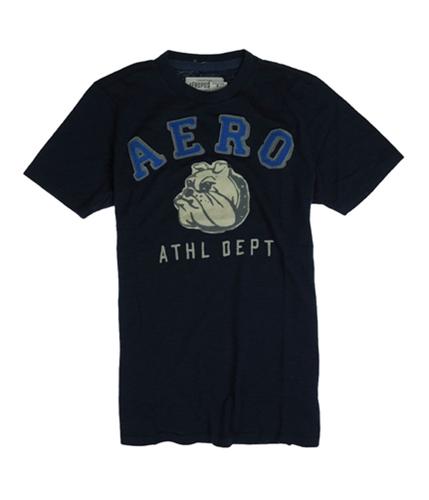 Aeropostale Mens Athletic Dept. Bulldog Character Graphic T-Shirt navyni S