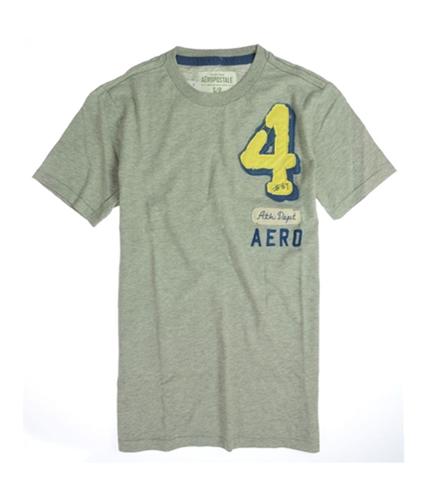Aeropostale Mens 4 # 87 Ath Dept Graphic T-Shirt lththr S