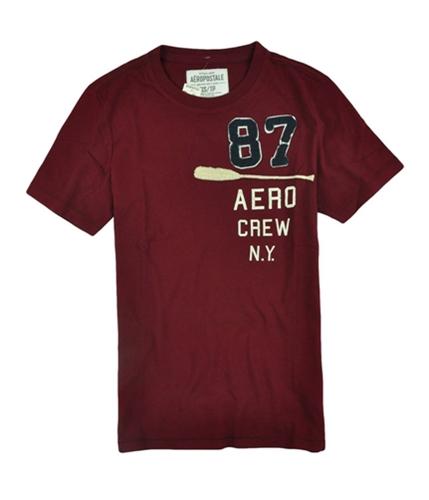 Aeropostale Mens Aero Crew Graphic T-Shirt auburnburgundyred XS