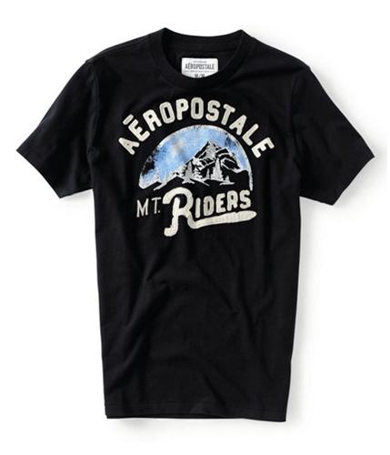 Aeropostale Mens Mt Riders Graphic T-Shirt black XS
