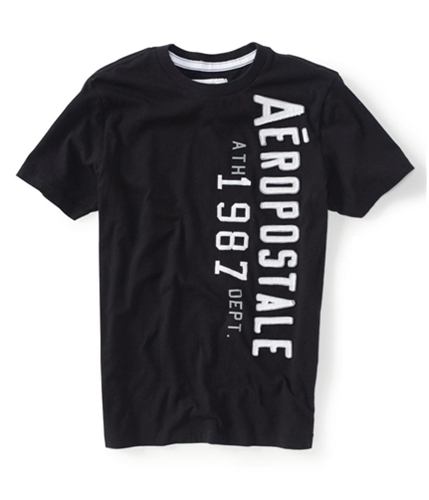 Aeropostale Mens Ath 1987 Dept Graphic T-Shirt black XS