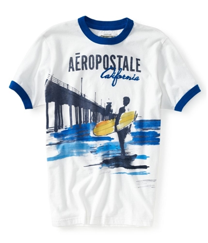 Aeropostale Mens Embroidered California Surf Graphic T-Shirt 102 XS