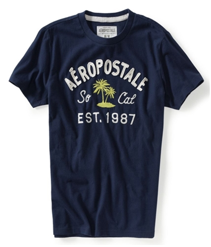 Aeropostale Mens Embellished So Cal Graphic T-Shirt 413 XS