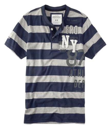 Aeropostale Mens Ny Henley Shirt navyblue M