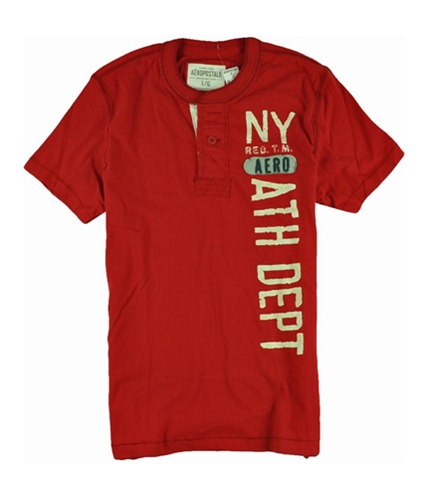 Aeropostale Mens Solid Ny Athletic Dept Graphic T-Shirt redcla L
