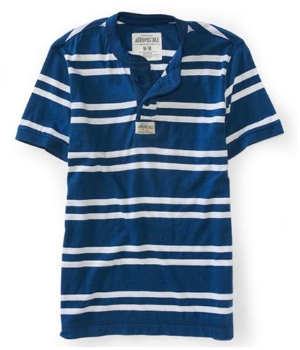 Aeropostale Mens Stripe Henley Shirt 109 XS