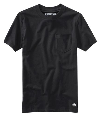 Aeropostale Mens A87 Pocket Graphic T-Shirt black XS