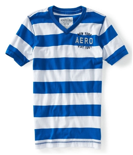 Aeropostale Mens V-neck Graphic T-Shirt active L