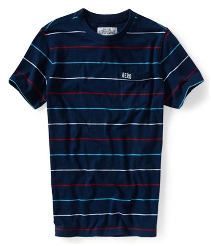 Aeropostale Mens Stripe Pocket Graphic T-Shirt 413 XS