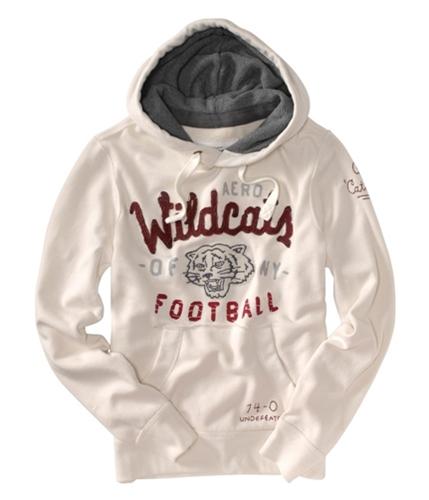 Aeropostale Mens Wildcats Of Ny Football Hoodie Sweatshirt opalbeige XL