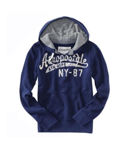 Aeropostale Mens Pull Over Hoodie Sweatshirt navynightblue XS