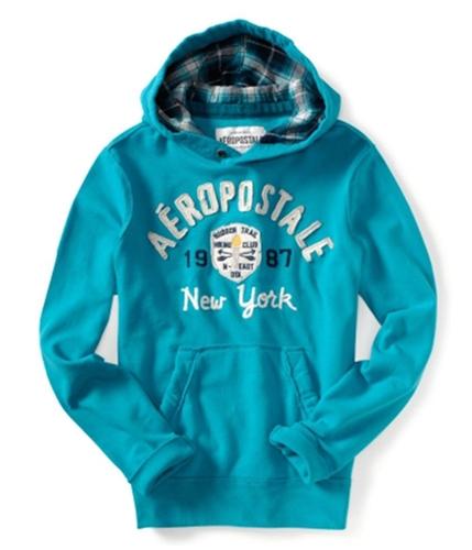 Aeropostale Mens Hudson Trail Hiking Club Hoodie Sweatshirt teal16 XS