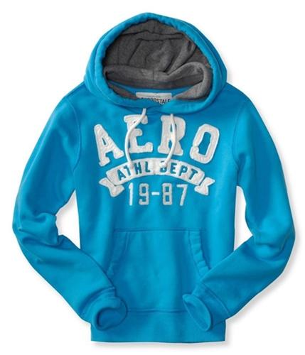 Aeropostale Mens Aero Athl Dept 19-87 Hoodie Sweatshirt aqua12 L